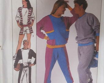 Simplicity 8959 Men's and Misses Knit Pants, Shorts and Top Size Lrg (Chest/Bust 42-44, Waist 36-39)