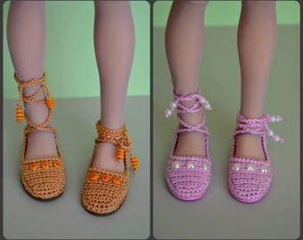Knitted shoes  for Minifee, MSD, BJD 1/4.