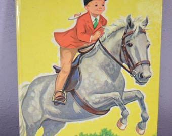 Little Horseman Rand McNally Giant Book Vintage 1961 Mabel Watts Vintage Story Picture Book Horse Stories Horse Lover