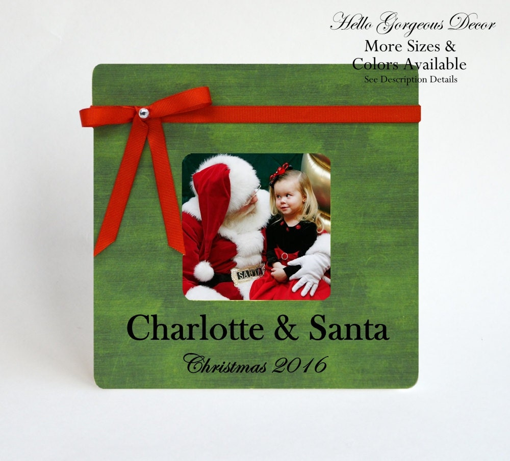 Baby Children Christmas Gift Santa Picture Frame Personalized