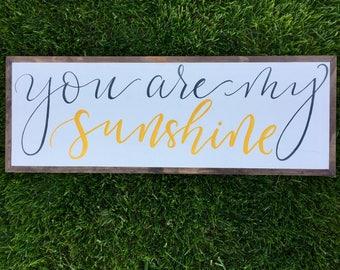 You are my sunshine, you are my sunshine wall art, you are my sunshine wood sign, you are my sunshine wall art wood, nursery decor, baby
