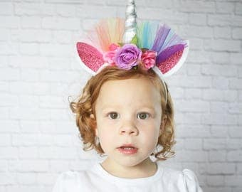 Rainbow Unicorn Headband - Girls Unicorn Headband - Adult Unicorn Headband - Child Unicorn Headband - Unicorn Costume -Unicorn Horn Headband