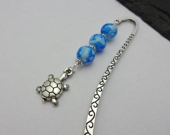 Turtle Bookmark, Tortoise Bookmark, Beaded Bookmark, Animal Bookmark, Charm Bookmark, Animal Gift, Tortoise Gift, Gift For Readers, Turtle