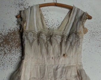 Antique Jugendstil wedding dress 1917 gown
