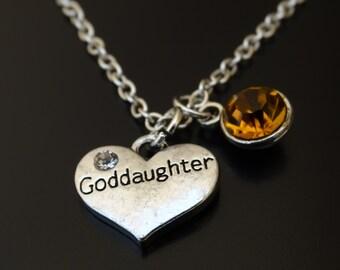 Goddaughter Necklace, Goddaughter Charm, Goddaughter Pendant, Goddaughter Jewelry, Goddaughter Gift, Goddaughter Baptism Gift, God Daughter