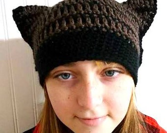 PussyHat, PussyCat Hat, PussyHat Project, Kitty Hat, Cat Hat, Cat Beanie, Cat Ear Hat, Cat Ear Beanie, Cat Lover Gift, Hat with Ears, Custom