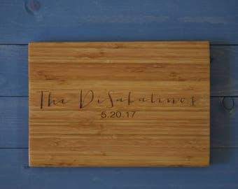 Engagement Gift, Gift for Couple, Personalized Cutting Board, Cutting Board, Engraved Cutting Board, Anniversary Gift, Housewarming Gift