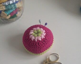 Handmade crochet pin cushion