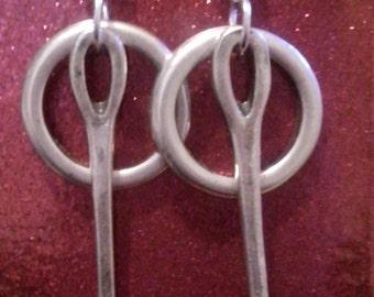 One of 50 style hoop earrings and needle zamak