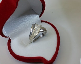 18 mm ring Silver 925 partly diamond precious SR494