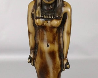 Egyptian Goddess Hathor Figurine Deity Statue Egypt Joy Love Motherhood