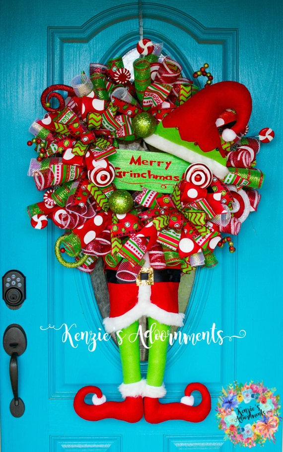 15 Grinch Christmas Deco Mesh Wreath 10 Creative