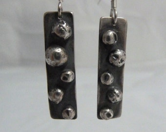 Silver bobbly earrings