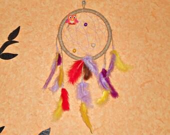 dream catcher, boho style, wall hanging, wall decor, handmade dreamcatcher