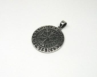 Vegvisir Viking compass Silver 925 jewellery charms magical compass Island trail magic