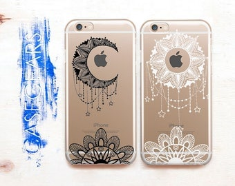 iPhone 7 Phone Case Moon 7 Plus Case iPhone X Case Sun iPhone 6 Case iPhone 6 Plus iPhone Case iPhone SE iPhone 8 Plus Case BFF Gift CG1441