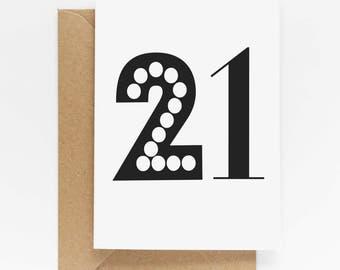 21st Birthday Milestone Card