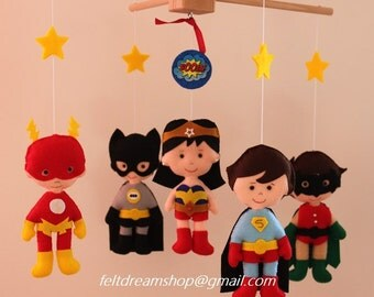 Super Heroes mobile, Super Heroine Mobile , Heroes Mobile BB, Robin,Batman, Flash, Robin, Wonder Woman,