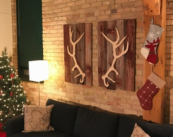 Antler Wooden Wall Art