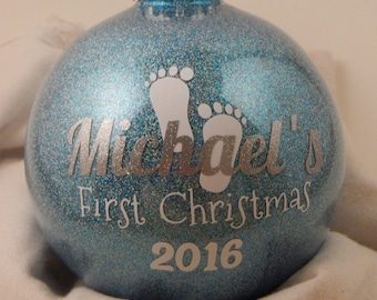 Babys First Christmas Ornament - Personalized Baby Ornament - Custom Baby Ornament - Baby First Ornament - Personalized Ornament - Baby Gift