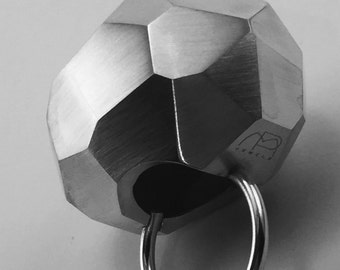 big rock ring faceted silver
