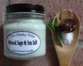Sage Candle, Scented Candle, Soy Candle, Sea Salt Candle, Ocean Candle, Spa Candle, Aromatherapy Candle, Mom Day Gift, Candle, TheCheekyNose