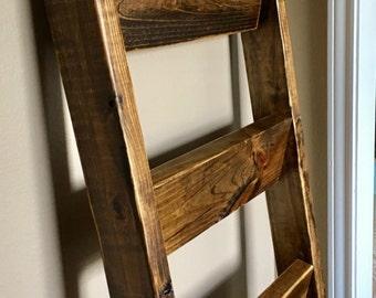 5 ft Blanket Ladder, Quilt Ladder, Wood Ladder, Blanket organizer, Quilt organizer, Rustic Decor, Farmhouse, Rustic Ladder, Shabby Chic Deco