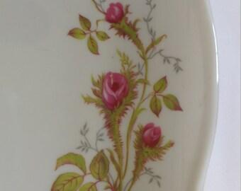 Moss Rose Serving Pieces      Royal Hanover     Bavaria Germany   Platter    Covered Vegetable      Creamer and Sugar      Gravy Boat