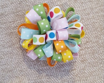Easter Loopy Puff Bow