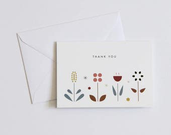 Greeting Card - Thank You - Flowers A6