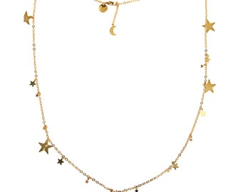 Stardust Necklace - a sprinkling of golden stars