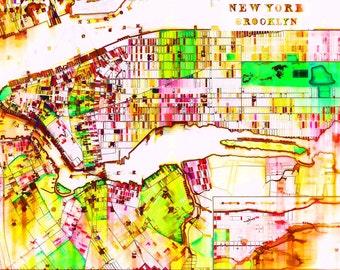 Brooklyn New York 1890, XL-Art-Print 75x50cm/ XXL: 114x76 cm