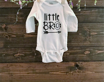 Custom Baby Onesie | Baby | Little Bro  | Little Brother Onesie | Baby Boy Onesie