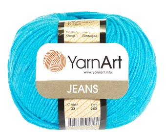 YarnArt JEANS cotton yarn soft yarn crochet cotton yarn fine cotton yarn summer yarn blend yarn hand knit yarn sport cotton yarn