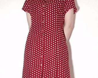 70's vintage Red dots dress