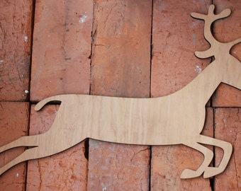 deer, wooden laser cut