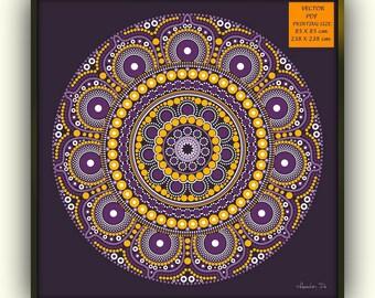 Large purple mandala, Printable mandala wall hanging, Mandala wall decor, Mandala wallpaper , Large mandala print, Digital download mandala