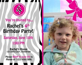 Zebra Print Party Invitation