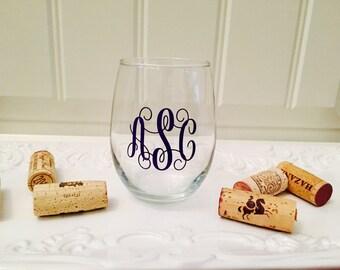 Personalized Wine Glass, Monogrammed Wine Glass, Wine Glass Personalized