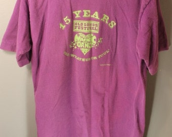 Vintage 1995 Old Songs Festival T-shirt Fair Weather or Foul... Mostly Foul