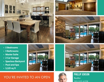 Real Estate Open House Flyer Professionally Customized