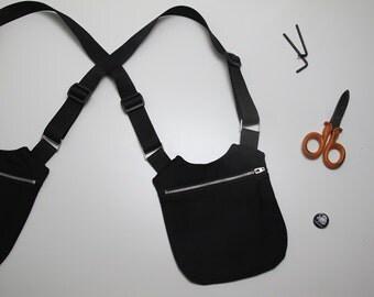Black UNISEX HOLSTER BAG/black holster bag