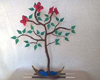 Origami bonsai tree of life