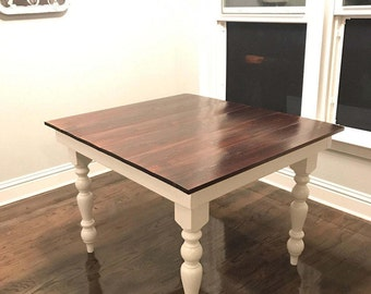 Custom Farmhouse Breakfast Nook Table