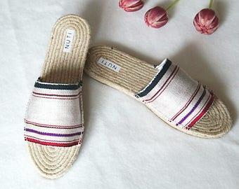 Espadrille, jute, slip on shoes, sandal, cotton wooven