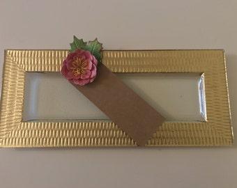 Flower Bookmark-Paper Flower-Pink-Gift-Books-Reading