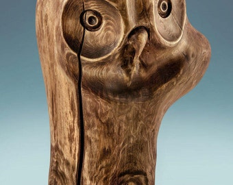 Wooden owl - wooden wedding gift- owl figurine - hand carved owl - vintage bird -  owl collectible - hand carved figurine - Home Decor