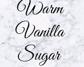 Warm Vanilla Sugar Wax Melts