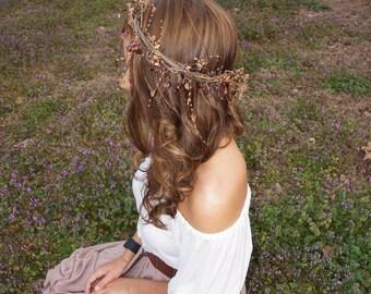 Beaded bohemian flower crown