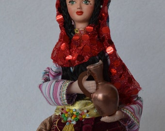 Handmade Doll With Turkish Traditional Clothes